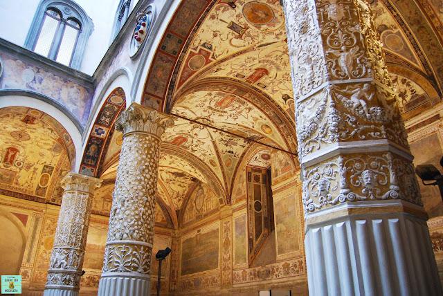 Interior del Palazzo Vecchio en la Piazza della Signoria de Florencia