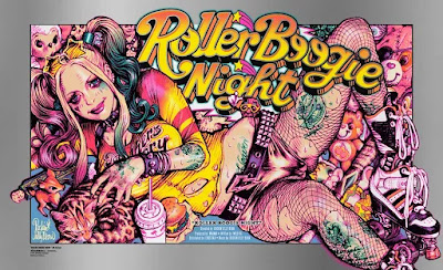 Roller Boogie Night Screen Print by Rockin' Jelly Bean x Bottleneck Gallery