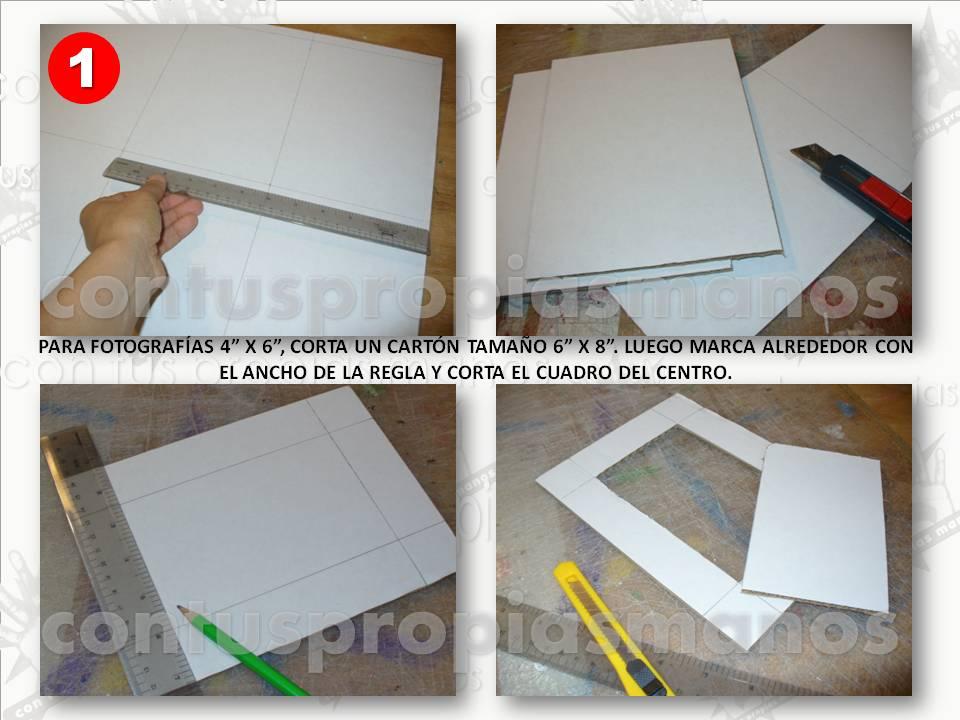 Con tus propias manos como hacer porta retratos en carton - Como hacer un marco de fotos a mano ...
