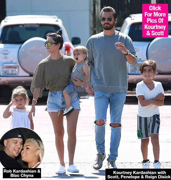Kourtney Kardashian May Change Kids' Last Name So Rob's Baby Can't Carry On 'Legacy'