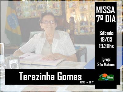 Convite Missa - Terezinha Gomes