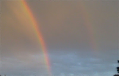 A double rainbow - symbol of good luck