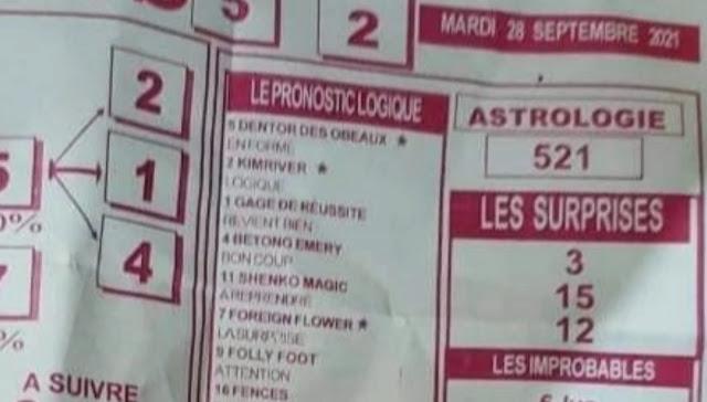 Pronostics quinté pmu Mardi Paris-Turf TV-100 % 28/09/2021