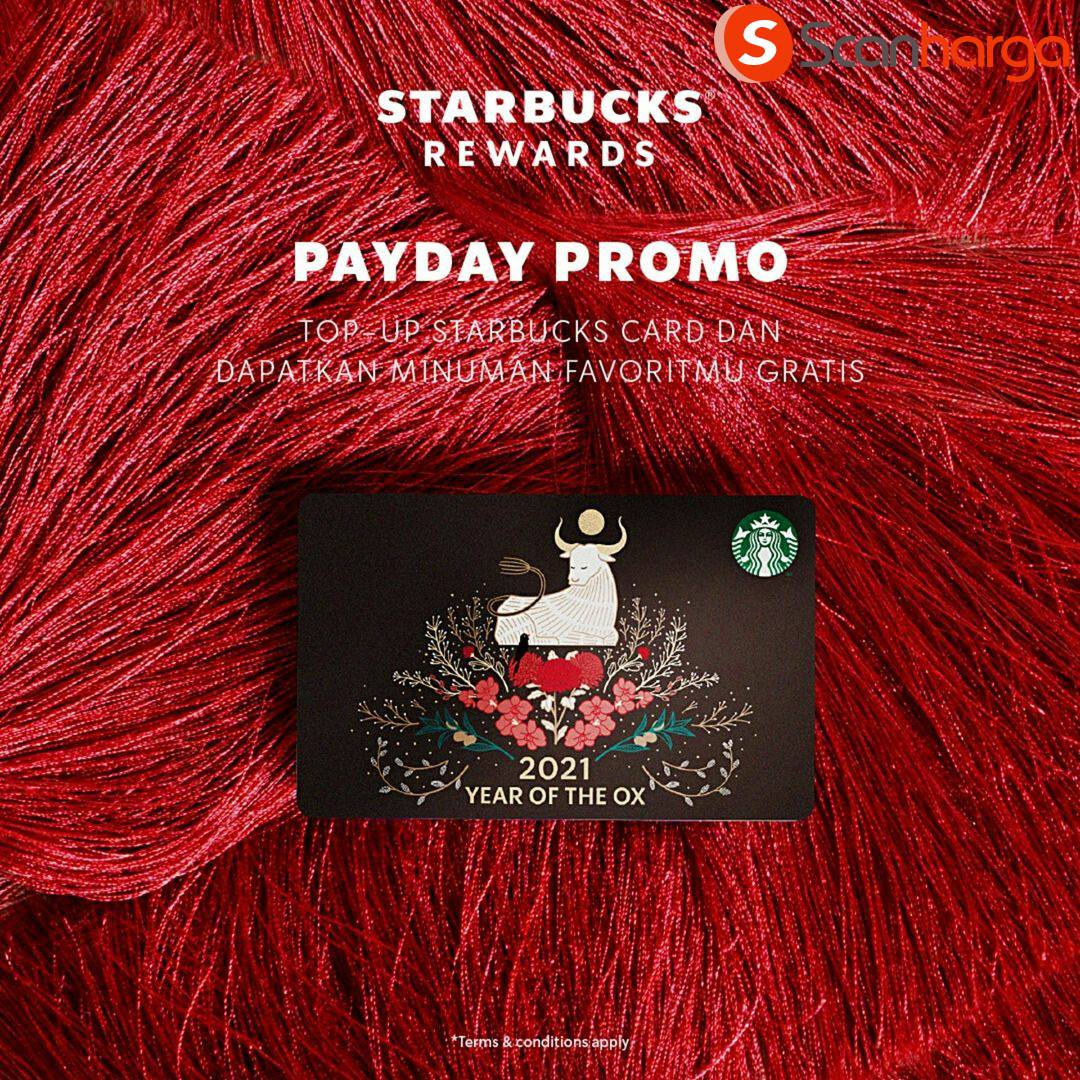 STARBUCKS Promo PAYDAY – GRATIS Minuman Favorit dengan Kartu Debit BCA
