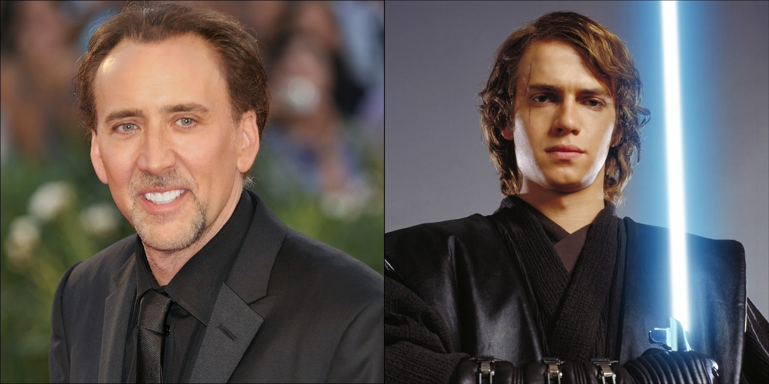 The Star Wars Underworld Nicolas Cage Praises Hayden Christensen S Portrayal Of Anakin Skywalker