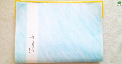 francuski, zeszyt, niebieski