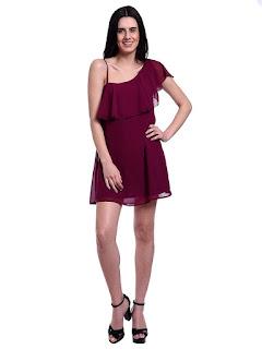 Women-One-Shoulder-Short-Dress
