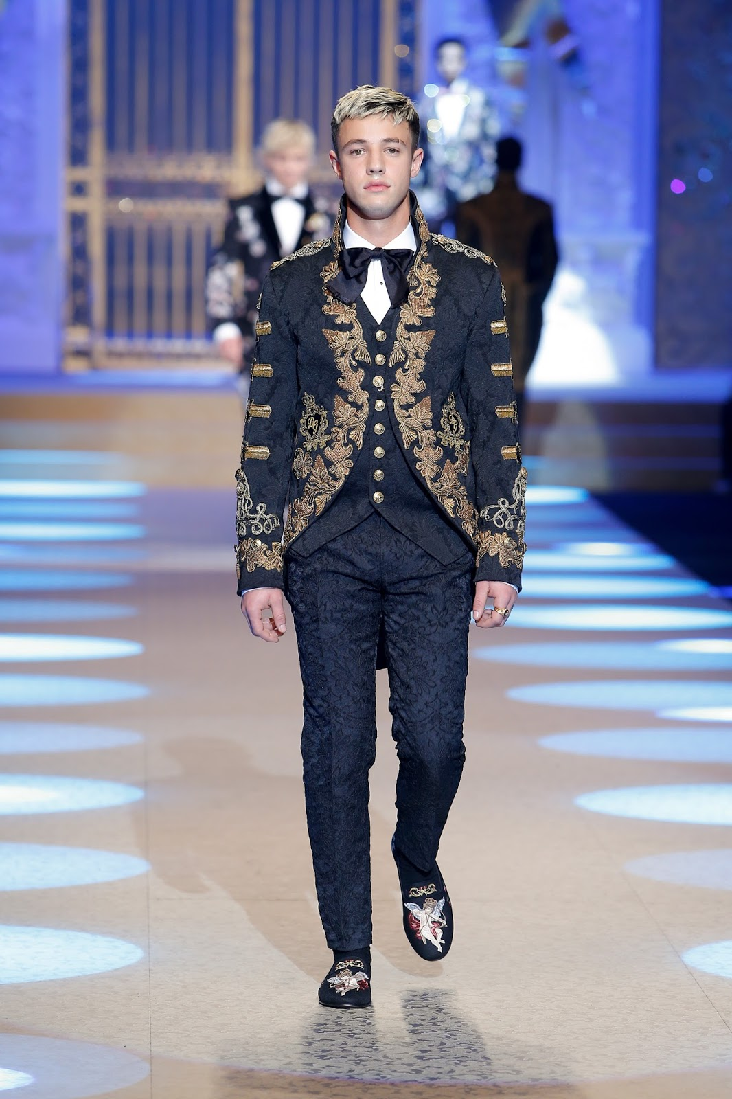 dolce gabbana, fall winter, otoño invierno, fashion show, Austin Mahone, Cameron Dallas, runway