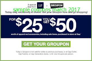 Gap coupons for march 2017