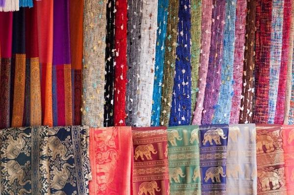 Lụa, tơ tằm Thái Lan