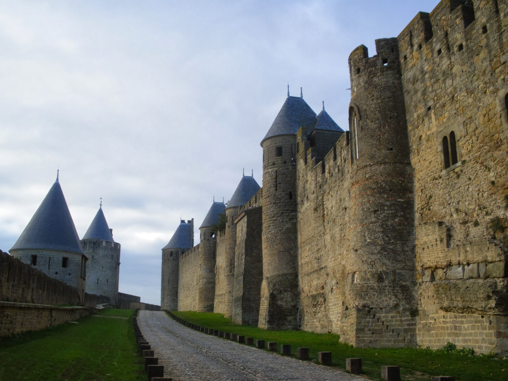Muralles de Carcassona Carcassonne Cite Aude Pays Cathare