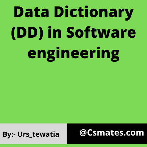 data dictionary in software engineering