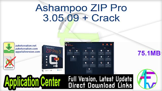 Ashampoo ZIP Pro 3.05.09 + Crack