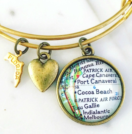 Map Jewelry | Bracelets and Necklaces