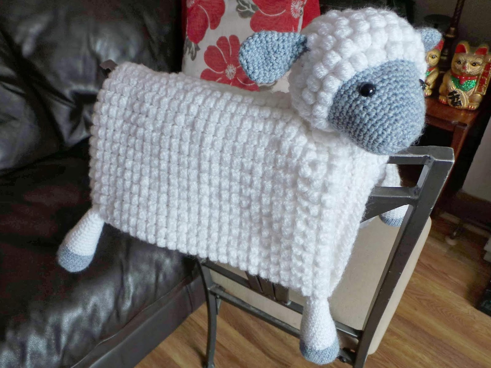 3in1 Farm Sheep Folding Baby Blanket Crafting Happiness