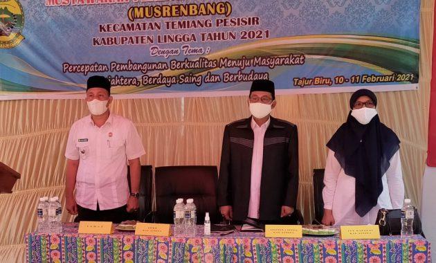 Asisten I Setda Lingga Membuka Musrenbang Tingkat Kecamatan Temiang Pesisir