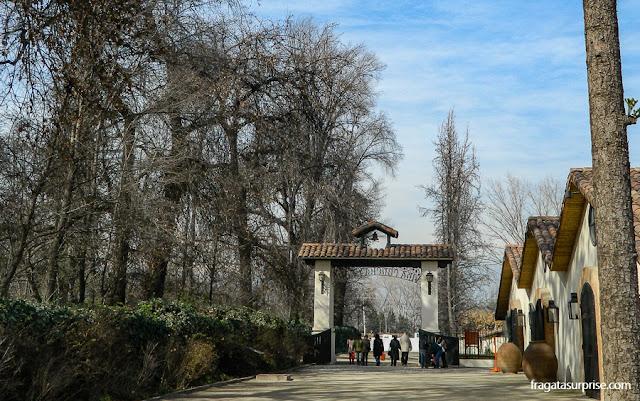 Entrada da Vinícola Concha y Toro, nos arredores de Santiago do Chile