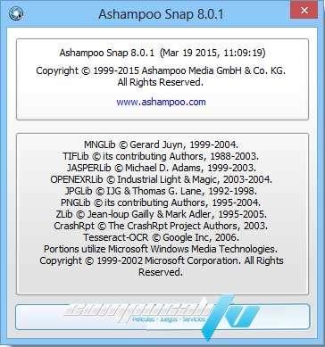 Ashampoo Snap Versión 8.0.1 Español