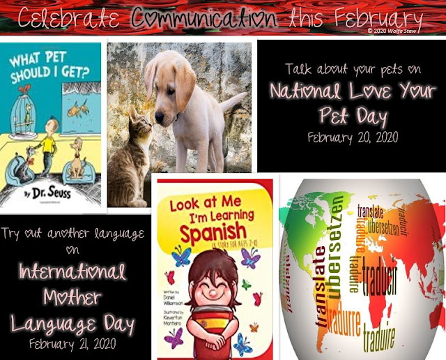 National Love Your Pet Day and International Mother Language Day