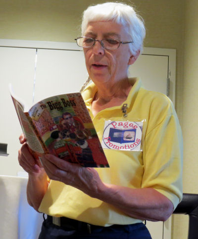author Joan H. Young reading from The Bigg Boss