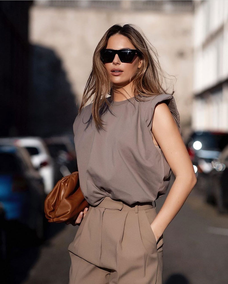 Style File | Mini Trend: Padded Shoulder T-Shirts