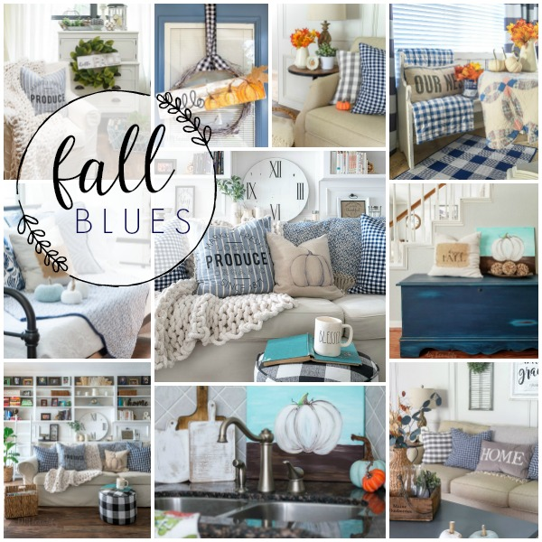 decorating with blue for fall