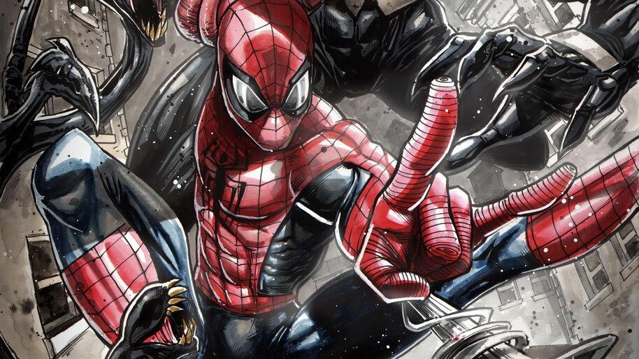 Spider-Man, Web Shoot, Marvel, Comics, 4K, #4.2922