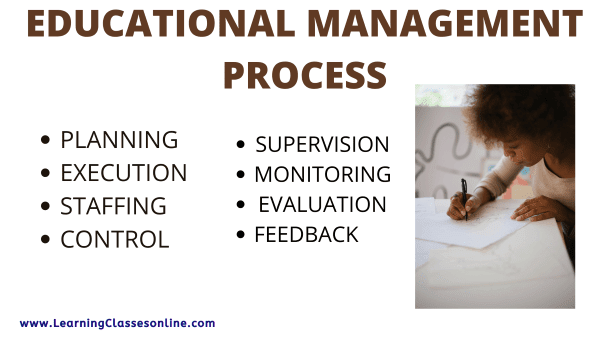 educational management process, educational process steps