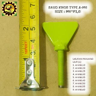 Contoh Baut Knob Plat Besi Type A-M6xP1,0
