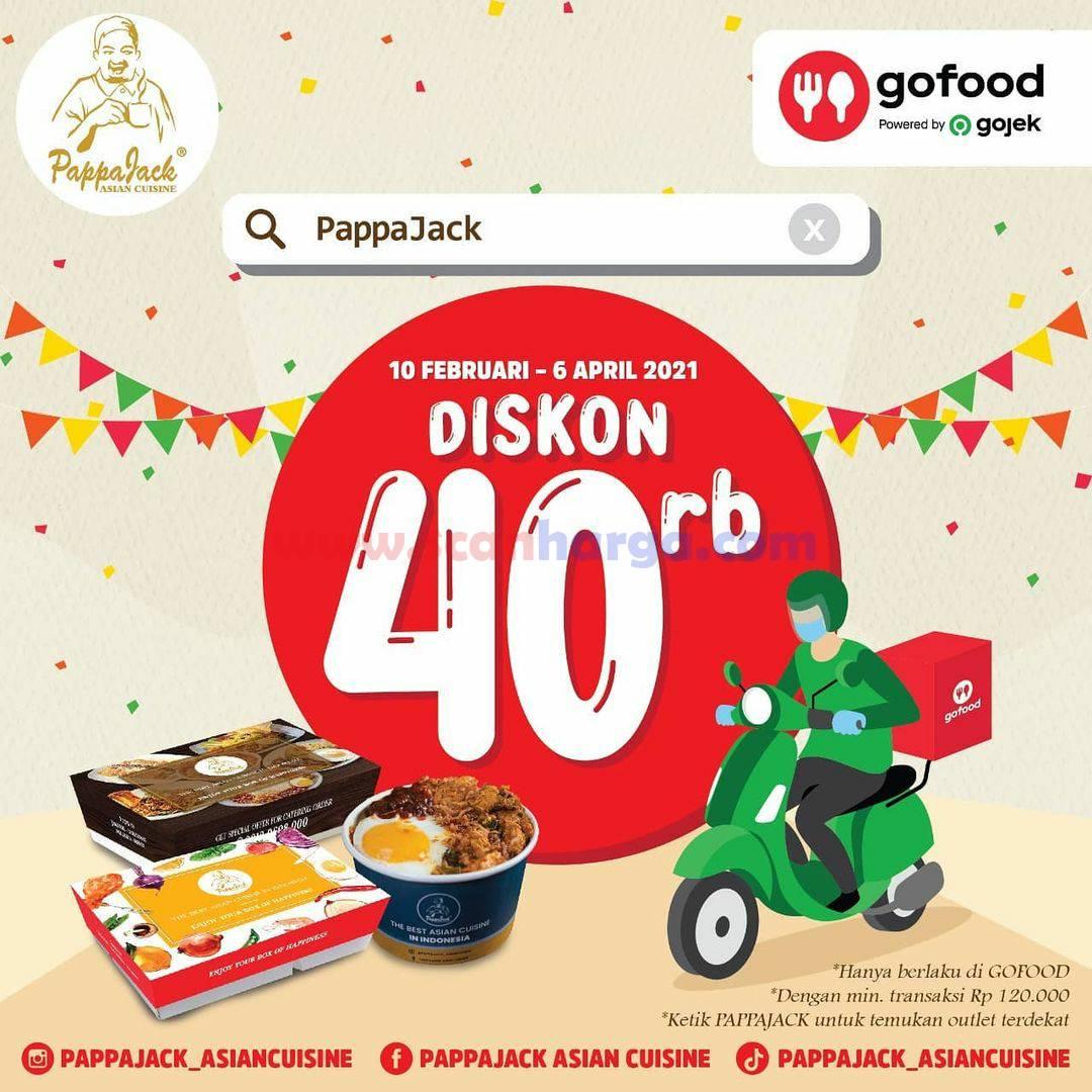 PAPPAJACK Promo Discount 30% Via aplikasi GoFood