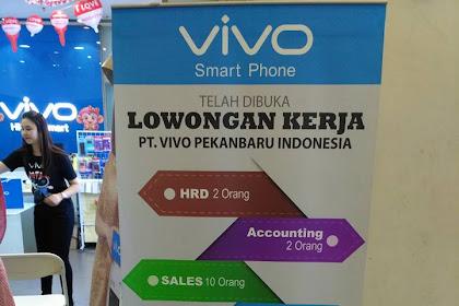 Lowongan PT. VIVO PEKANBARU INDONESIA November 2016