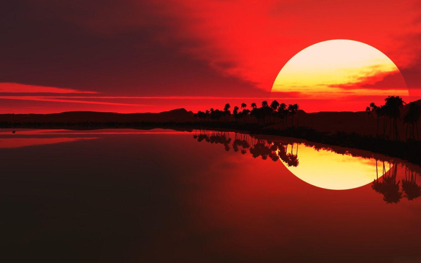 Sunset in Africa widescreen wallpapers Nature HD Wallpapers