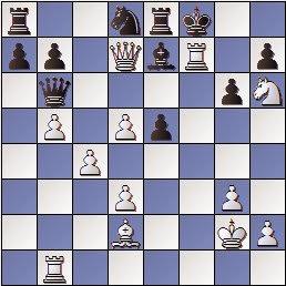 Partida de ajedrez José Paredes - Circol Isern, posición despues de 29.Txf7+!!