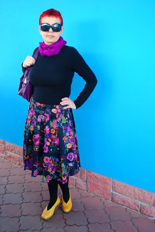 Stepalica Patterns: Zlata skirt - testing the pattern, Tanja