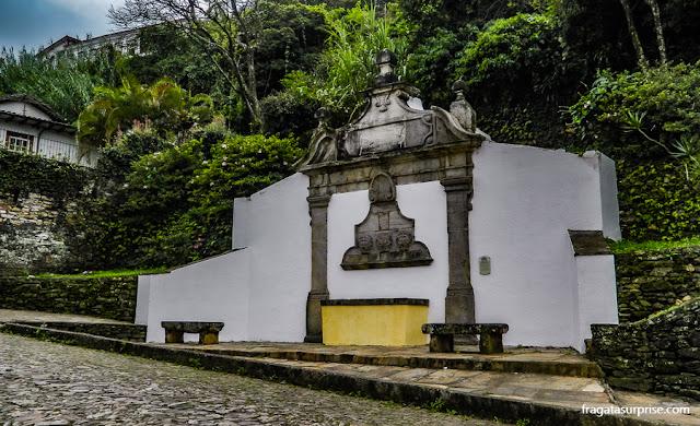 Chafariz colonial em Ouro Preto