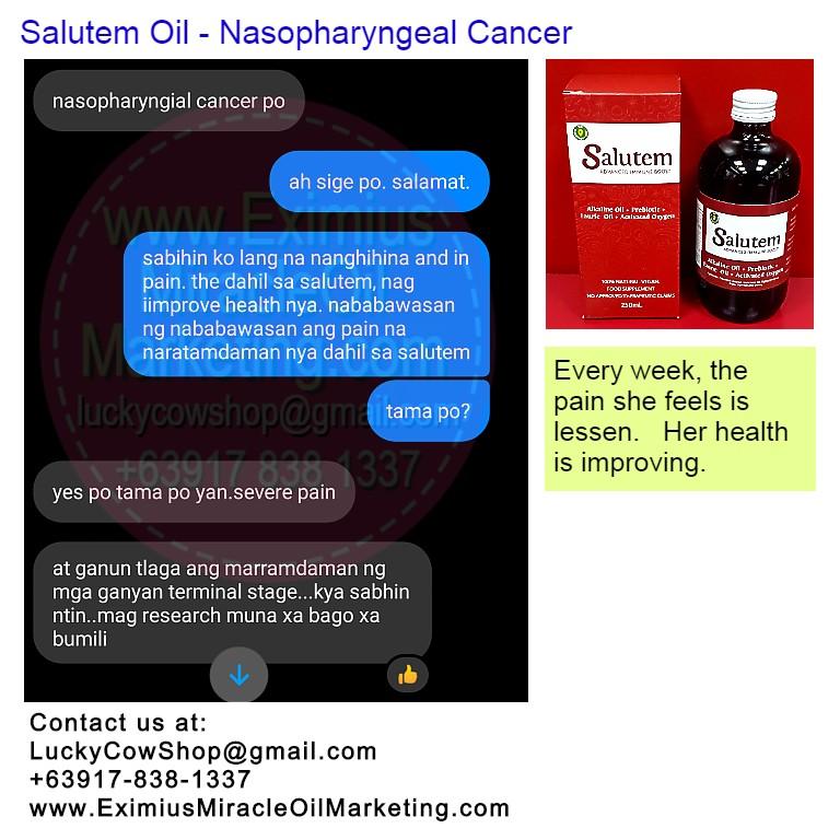 Salutem Oil Nasopharyngeal Cancer