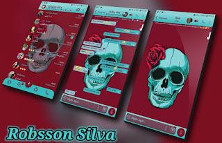 Skull Red Green Theme For YOWhatsApp & Fouad WhatsApp By R̳o̳b̳s̳s̳o̳n̳