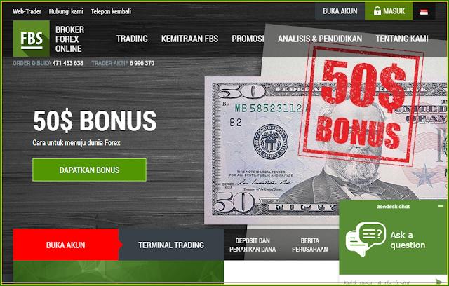 Cara mendapatkan Modal Trading Gratis $50 No Deposit Bonus Forex FBS