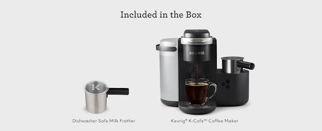 with the Keurig K-Café coffee