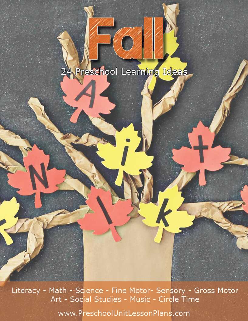 Fall Preschool Unit Lesson Plan Ideas
