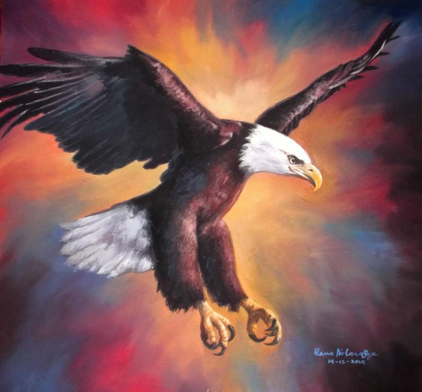 Dunia Lukisan Javadesindo Art Gallery Lukisan Burung Elang