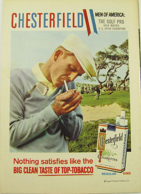 Dick Mayer Chesterfield cigarettes ad