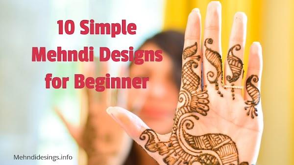 10 Mehndi Designs in Simple - Mehndidesigns.info