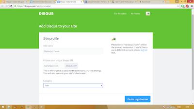 Cara Memasang Widget Disqus Ke Blog 3