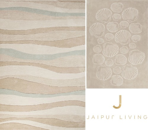 Beige Wave and Shells Rug from Jaipur Living Tides Collection