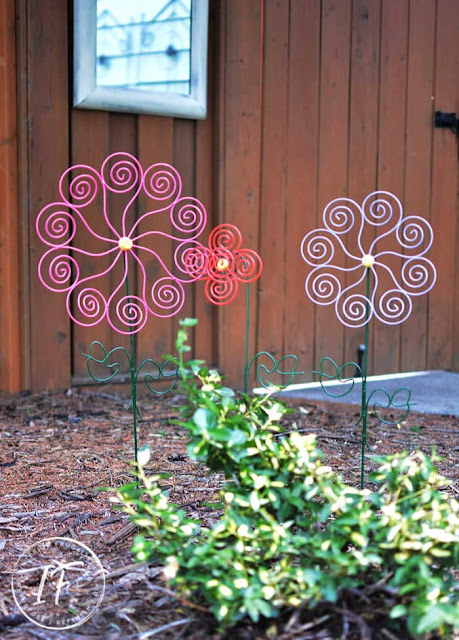 Repurposed Cupcake Stand Garden Art