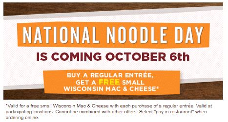 National Noodle Day promotion