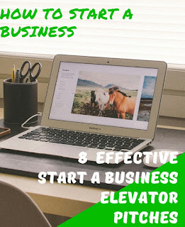 Effective start a business elevator pitches