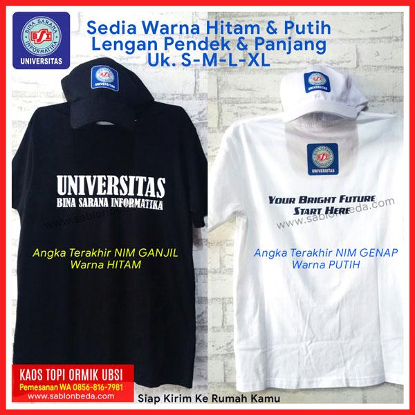 Jual Kaos Ormik BSI dan Topi satu paket