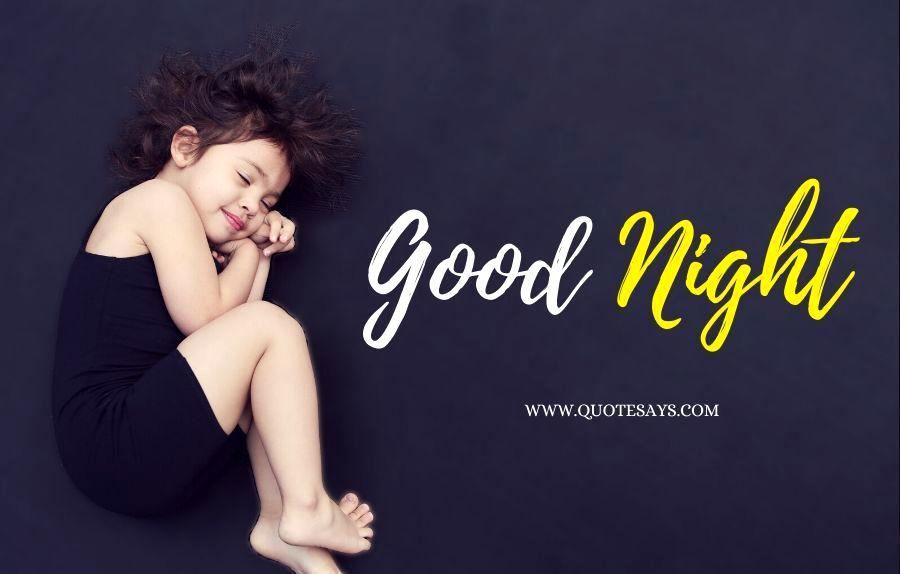 Good Night Cute Little Sleeping Child